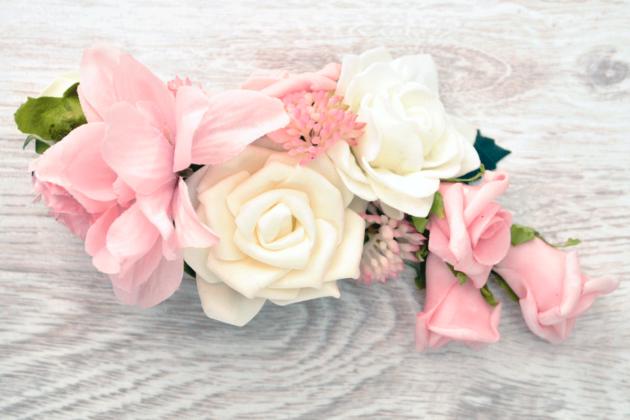 Spinka z różami łagodna