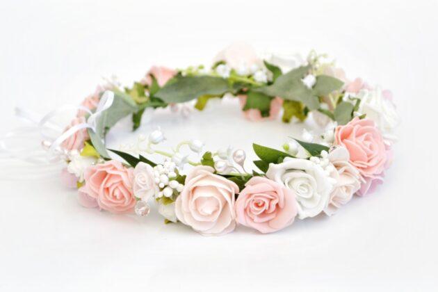 Różany wianek ślubny virgo Ptaszarnia