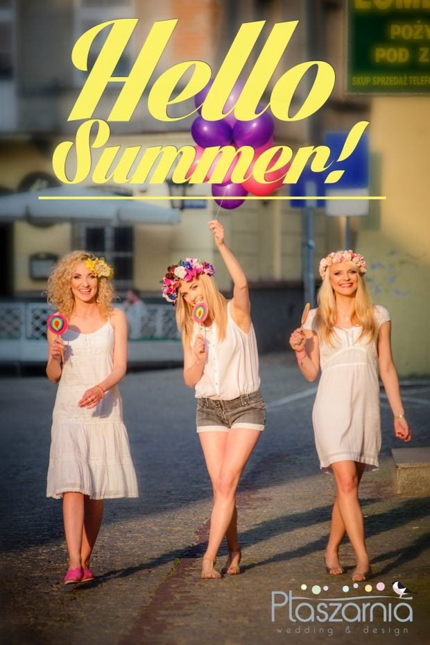Hello summer! - letnia odsłona Ptaszarni - wianek śłubny