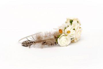 opaska ślubna karmelowa ptaszarnia wianki ślubne