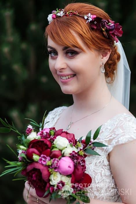 Joanna Nowakiewicz wianek ślubny Ptaszarnia