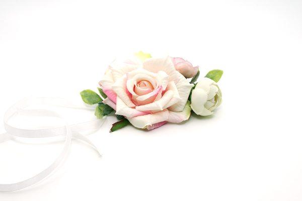 Kotylion różowo pistacjowy Ptaszarnia