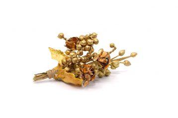 Butonierka złote kropelki Ptaszarnia