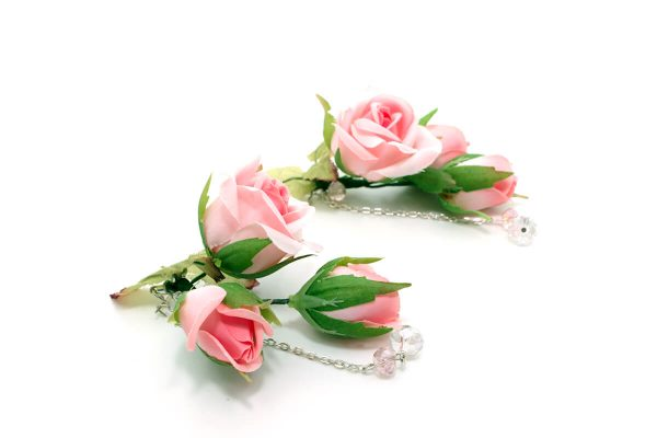 Kolczyki wild rose Ptaszarnia