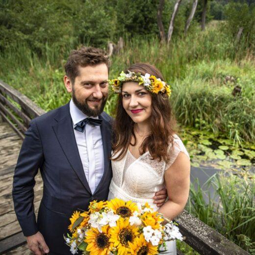 Anna Łubkowska wianek ślubny Ptaszarnia